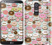 "Чехол на LG G2 Пончики в глазури ""2876c-37"""