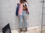 Рваные джинсы на левой ноге, фото 4