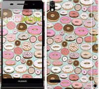 """Чехол на Huawei Ascend P6 Пончики в глазури """"2876c-39"""""""