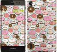 """Чехол на Huawei Ascend P7 Пончики в глазури """"2876c-49"""""""