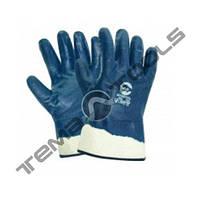 Маслобензостойкие перчатки с жесткми манжетом МБС Синие