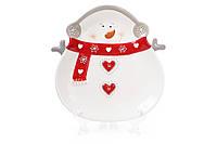 Тарелка керамическая Снеговик 26.2см (834-181)