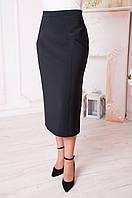 Женская юбка больших размеров Людмила черная