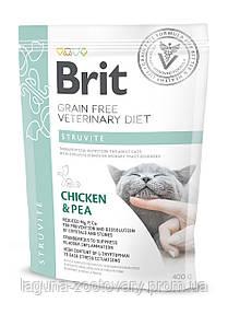Brit GF Veterinary Diets Cat Struvite 400гр корм при мочекаменной болезни у кошек