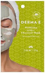 Очищаюча 2 в 1 вугільна маска на основі глини 10 г Derma E США, офіційний сайт