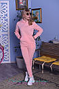 Теплый спортивный костюм из трехнитки с худи и зауженными штанами 2spt808, фото 2