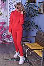 Теплый спортивный костюм из трехнитки с худи и зауженными штанами 2spt808, фото 3