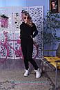 Теплый спортивный костюм из трехнитки с худи и зауженными штанами 2spt808, фото 4