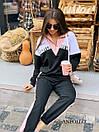 Женский спортивный костюм со свободным худи и штанами на манжетах 17spt809, фото 2