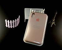 Оригинальный силиконовый чехол для Apple iPhone Xr - пудровый - 12 color