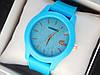 Жіночі кварцові наручні годинники Lacoste (Лакоста) на силіконовому ремінці, блакитні - код 1620