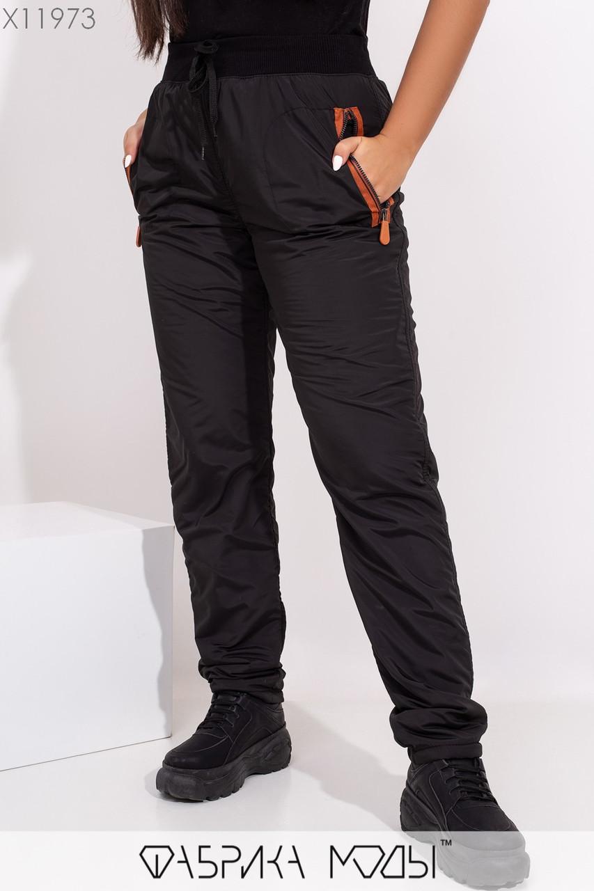 Женские утепленные штаны на флисе в больших размерах 1blr357