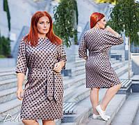 """Платье больших размеров """" Горох """" Dress Code"""