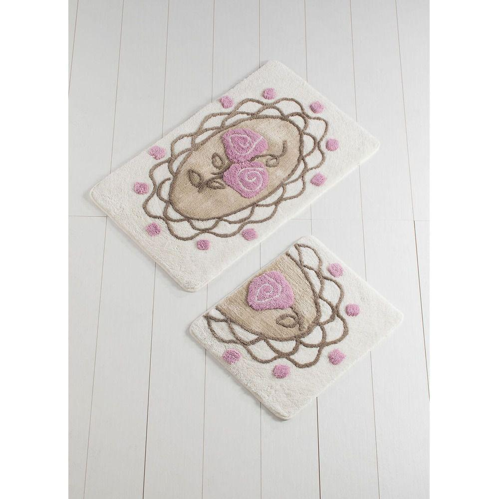 Набор ковриков  для ванной комнаты ALESSIA набор (2 предмета). Розы