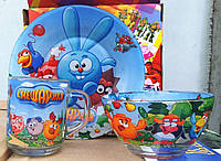Набор детской посуды Смешарики