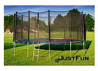 Батут Just Fun  490 см  (цвет Multicolor),  внутренняя сеткa + лестница
