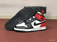 Кроссовки мужские Nike Air Jordan 1 Retro High, черно-красно-белые, в стиле Найк Аир Джордан, код SD-8580