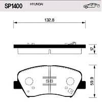 Колодки передние тормозные Elantra 11-, Hi-Q (Корея) (SP1400)