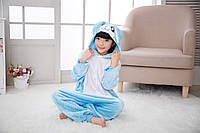 Пижама кигуруми для детей Зайка голубой