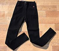 Утеплённые чёрные джинсы брюки скини для девочки 21-26, фото 1