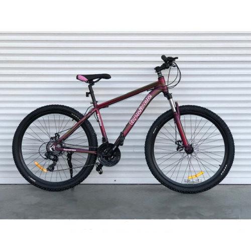 """Горный велосипед TopRider 27.5"""" 901 (бордовый)"""