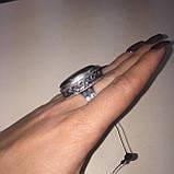 Кольцо овальное с камнем пирит 17,5 размер. Кольцо с пиритом Индия, фото 5