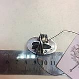 Кольцо овальное с камнем пирит 17,5 размер. Кольцо с пиритом Индия, фото 6