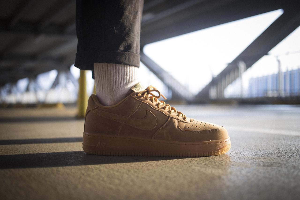 Мужские кроссовки Nike Air Force 1 Low Flax ( Реплика )