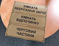 Офисные таблички на металле