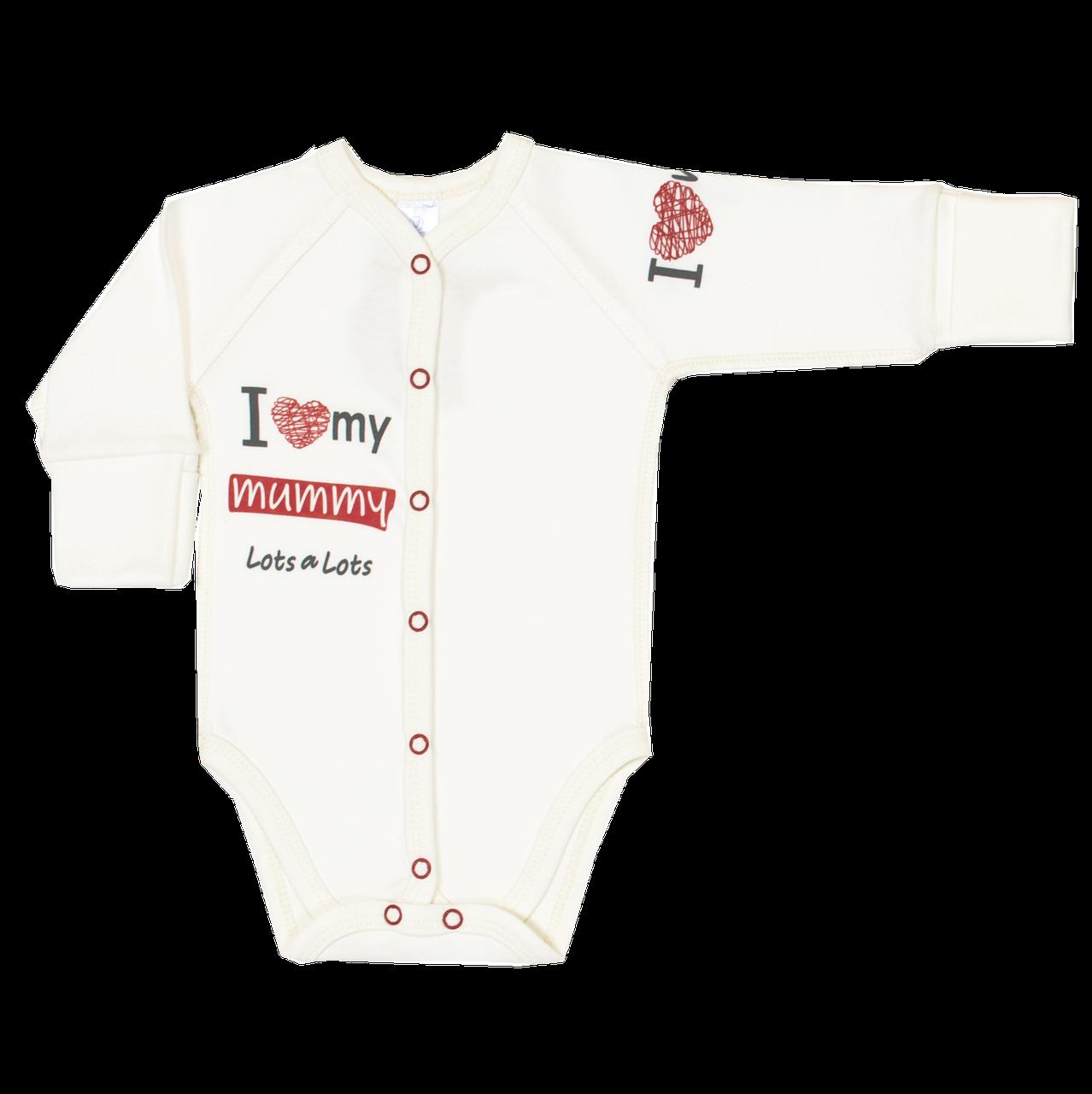 Боди для новорожденных Veres I love my mammy red интерлок молочный