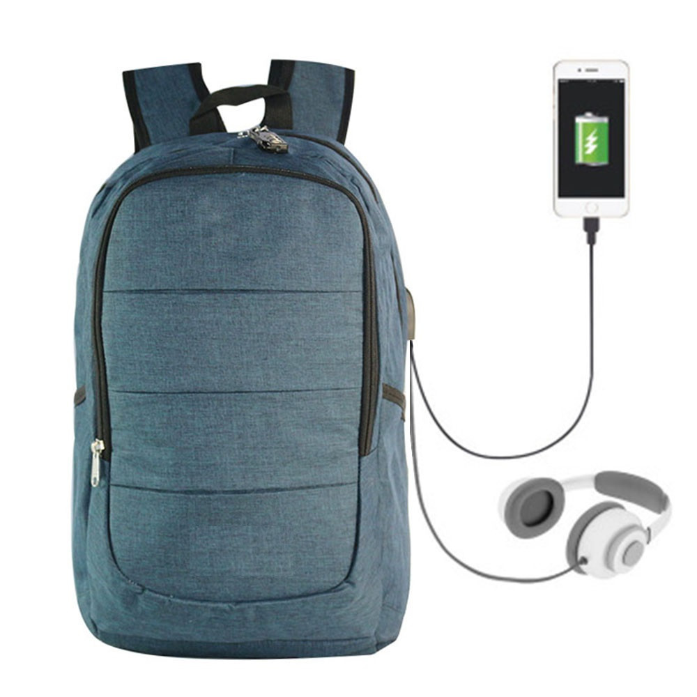 Рюкзак TEAMWIN с USB-портом + Вход для Наушников Синий