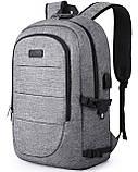 Рюкзак TEAMWIN с USB-портом + Вход для Наушников Серый, фото 3