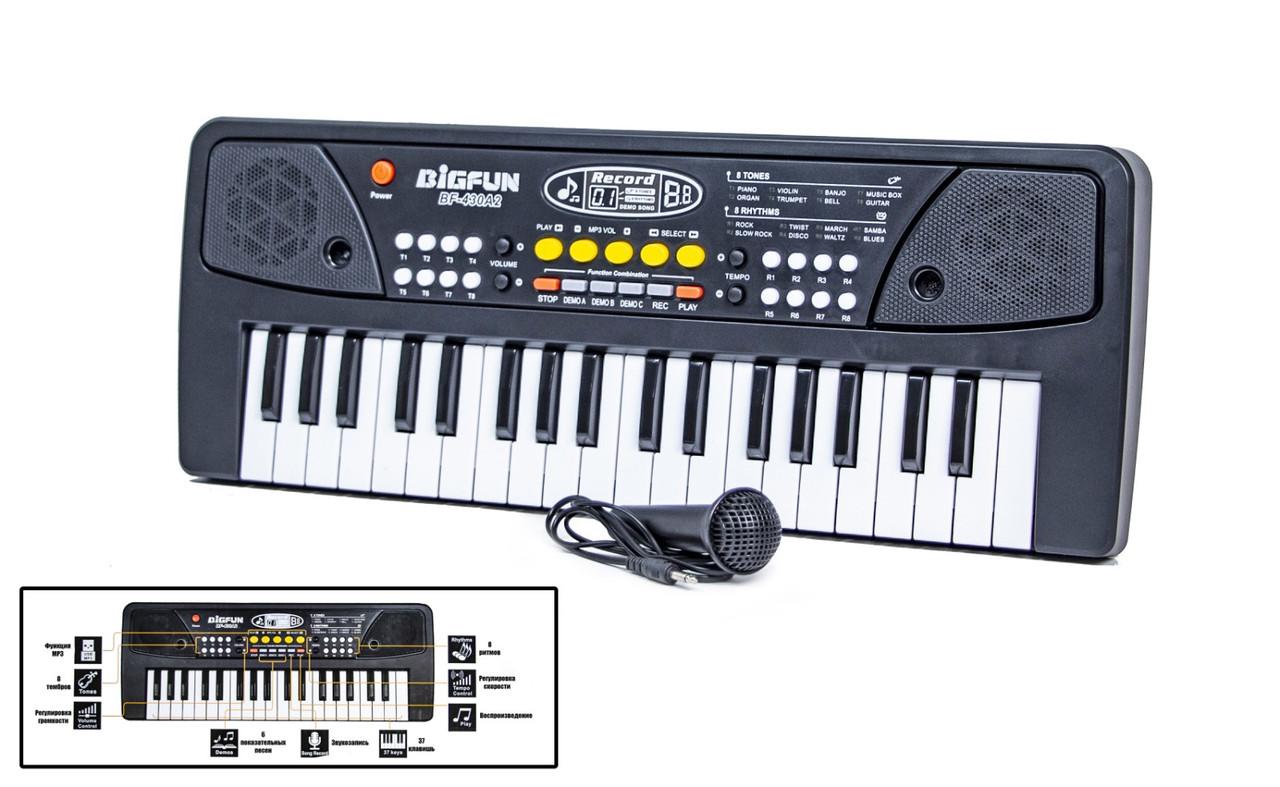 Синтезатор дитячий bf-430a2, мікрофон в комплекті, запис і відтворення пісень (BF-430A2)