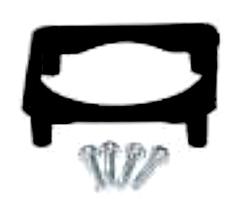 Розетка врезная фланцевая приборная щитовая с заземлением 2P+E защита IP54 c уплотнительной резинкой и крышкой крепежный усилительный элемент