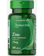 Витамины Puritans Pride Zinc 25mg, 100caps, фото 1