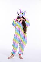 Пижама кигуруми для детей Единорог Галактика цветной