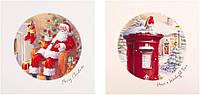 Новогодние открытки Санта, набор 2 шт.