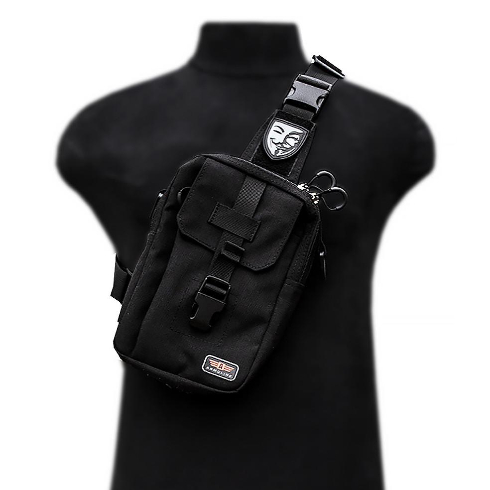 """Тактична міська сумка """"VENDETTA"""" BLACK (ВІДЕО)"""
