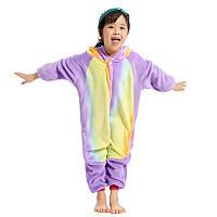 Пижама кигуруми для детей Панда радужная