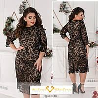 Нарядное гипюровое платье 48-50,52-54,56-58,60-62,62-64
