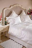 Комплект постельного белья евро Defne  Белый