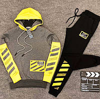 Мужской зимний спортивный костюм Off-White