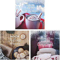 Новогодние открытки Hallmark Уютного Рождества, набор 3 шт.