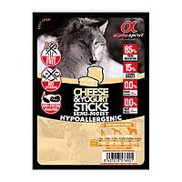 Напіввологі ласощі для собак ALPHA SPIRIT стік з сиром та йогуртом (x4 шт.) 40g
