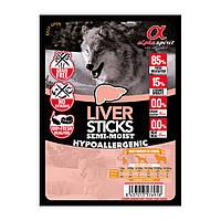 Напіввологі ласощі для собак ALPHA SPIRIT стік з печінкою (x4 шт.) 40g