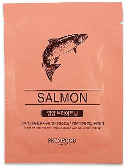 Питательная и выравнивающая тканевая маска для лица Skinfood Beauty in a Food Mask Sheet Сальмон