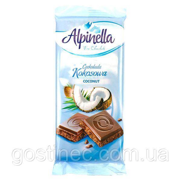Шоколад Alpinella молочный с кокосом 90г