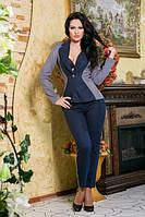 Серо-черный женский пиджак
