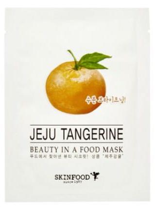 Осветляющая и выравнивающая тканевая маска для лица Skinfood Beauty in a Food Mask Sheet Мандарин