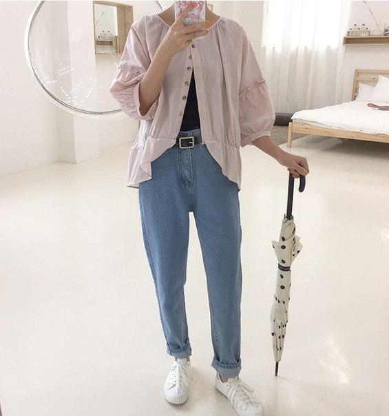 Женские широкие ретро джинсы